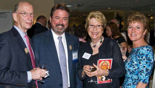 From left, Robert Phillips, Board Member Peter Rugen, Board Member emerita Patricia Phillips and Lynn Long. Phillips will be honored at the gala for co-founding Pacific House shelter, and for her 30 years of dedicated service.