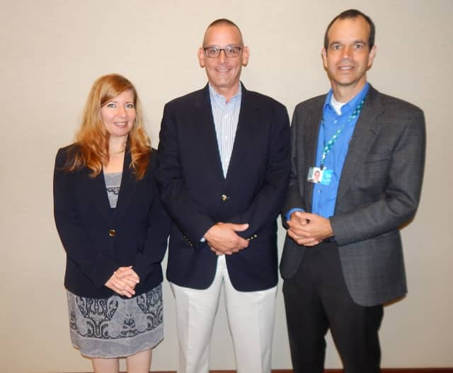 Bonnie Hagen, chief operating officer of Bright Energy Services; Bud Hammer, president of Atlantic Westchester; and Mick Gilbert, business development manager of Con Edison recently attended a seminar for business owners regarding energy efficiency.