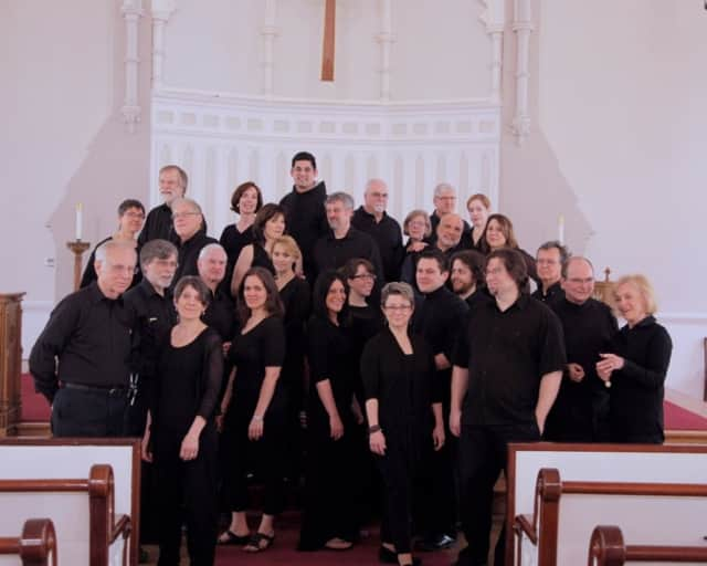 The Charis chorus features 38 men and women from Westchester and Fairfield counties