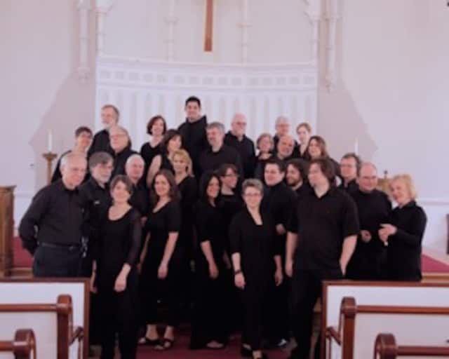 Charis Chamber Voices, pictured, will perform with Camerata Vocale Hannover on Sunday at the First Presbyterian Church of New Canaan.