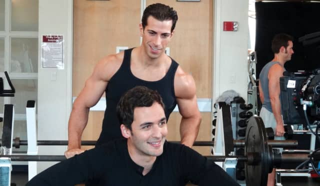 """Giovanni Rosell with """"Brain Games"""" host Jason Silva. Courtesy National Geographic Channel."""