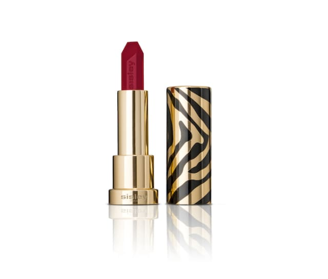 Le Phyto-Rouge, Sisley Paris's new hydrating lipstick, in Rio (red) is packaged like a work of art. Courtesy Sisley Paris.
