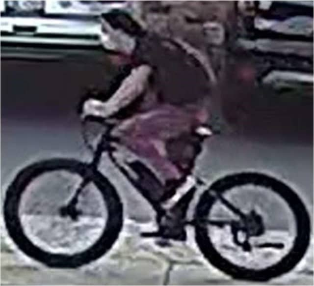 A photo has been released of a man who allegedly exposed himself to a 9-year-old girl riding her bicycle before trying to pull her sister's pants down, police said.