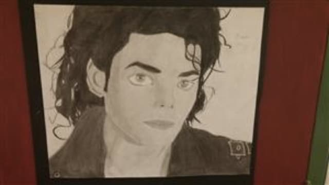 Brandon Jimenez of Teaneck made this portrait of Michael Jackson.