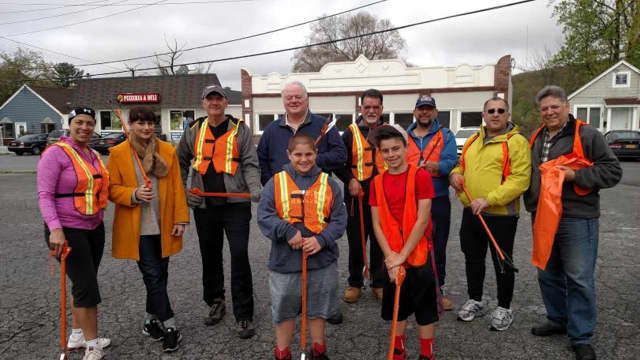 More than 50 Putnam Valley residents turned out to help clean the streets and area to give the town a sparkling look for spring.