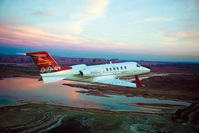 Learjet 40XR005. Courtesy Bombardier Inc.