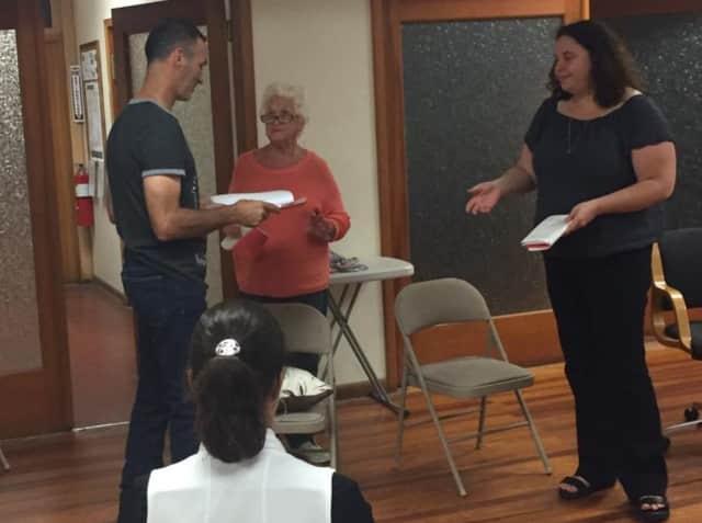 Brandy Boyle, Marie Cannici and Elisa Tornow rehearse.