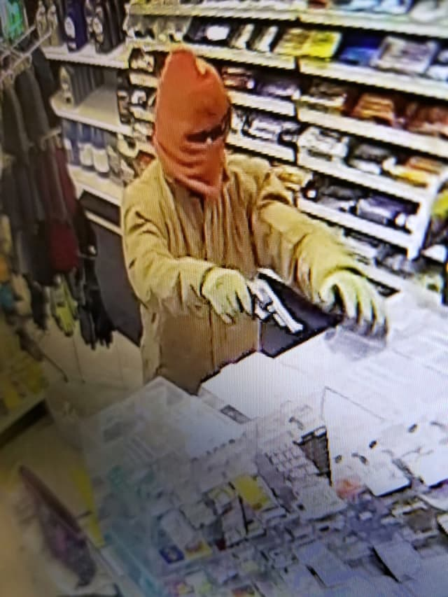 During the robbery.