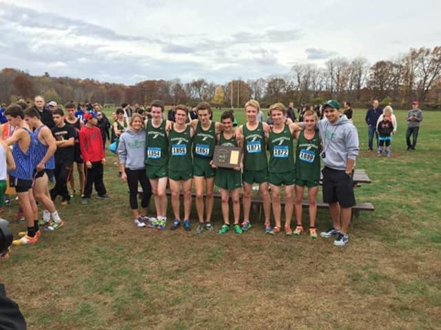 The Pleasantville High School boys' cross country team won its third straight Section I title.