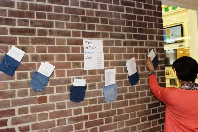 Fairfield Library will celebrate 'Poem in Your Pocket Week' beginning Thursday, April 21 by tucking poems in denim pockets throughout the library.