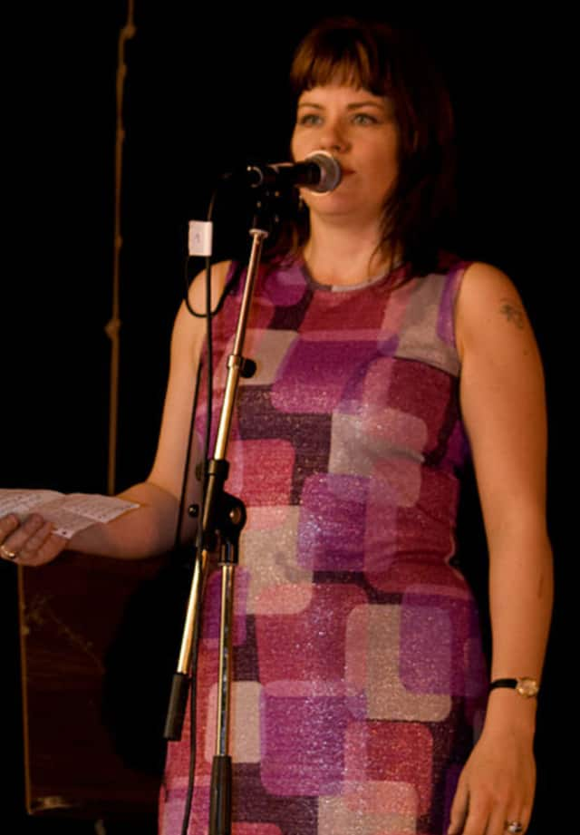 A poetry slam is a competition at which poets read or recite original work.