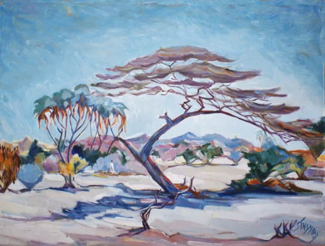 """Savana eritrea"" by Nenne Sanguineti Poggi. Her artwork will be on display at the Rye Arts Center from Jan. 21 - March 4."