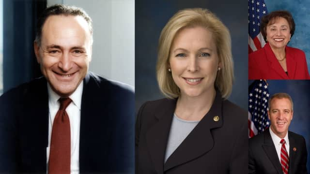 Sen. Chuck Schumer, Sen. Kirsten Gillibrand, Rep. Nita Lowey and Rep. Sean Patrick Maloney all issued statements following the strikes in Syria.