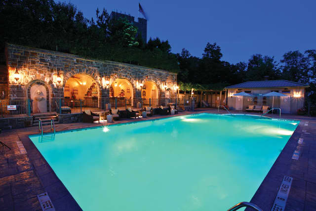 The Pool & Grotto Bar of the Castle Hotel & Spa in Tarrytown is the sensuous setting for its Poolside Pairing. Photos courtesy the Castle.