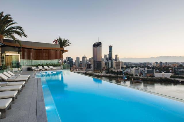 The pool at the Emporium Hotel South Bank, Brisbane. Courtesy Emporium Hotel.