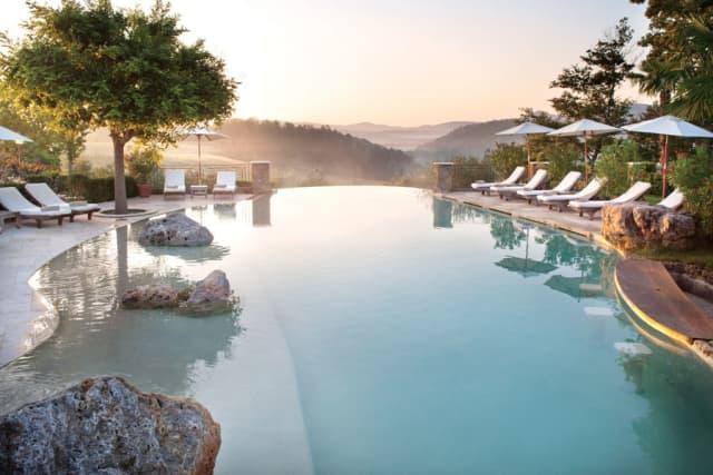 Pool at Borgo Santo Pietro. Photographs courtesy Borgo Santo Pietro.