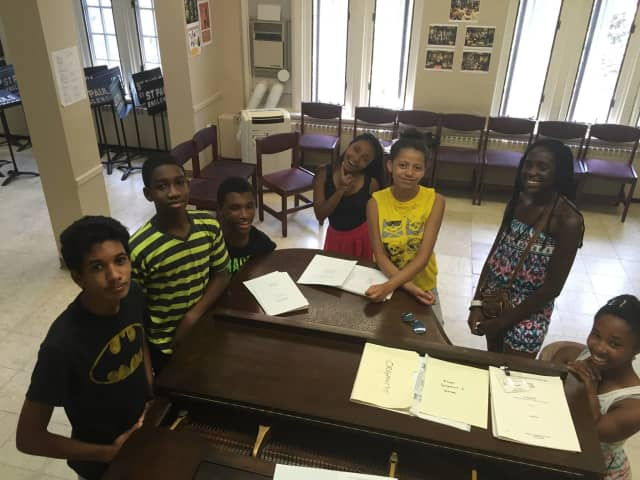 St Paul's Choir School in Englewood rehearsing for summer camp.