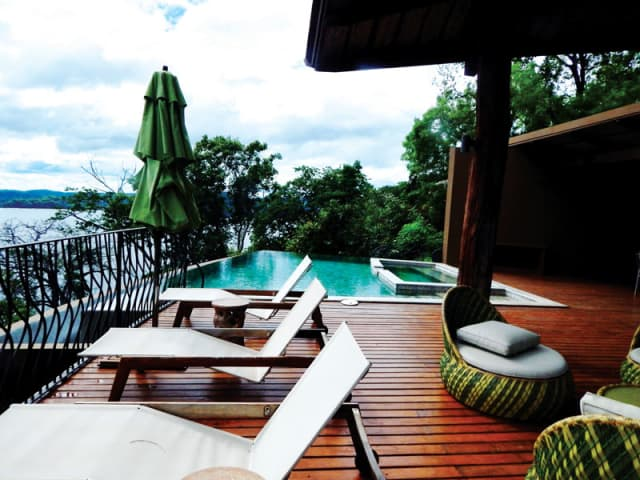 The private pool on an Exclusive Resorts' villa terrace in Costa Rica.