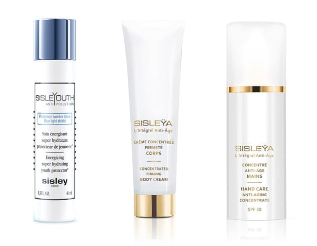 Three new products from Sisley Paris are designed to stave off the effects of Father time. Images courtesy Sisley Paris.