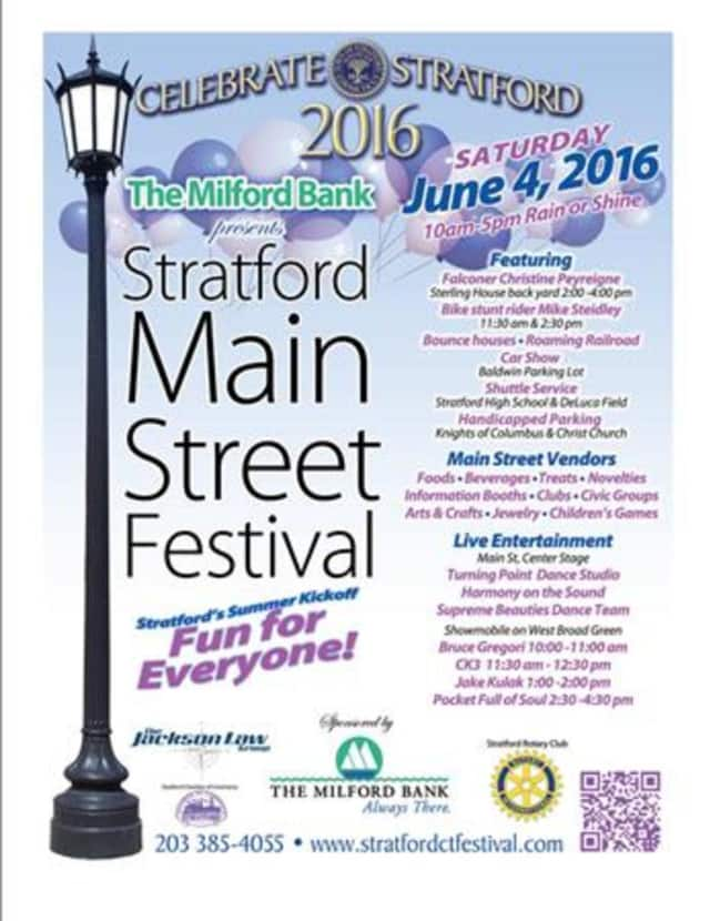 Stratford Main Street Festival gets underway on Saturday, June 4.