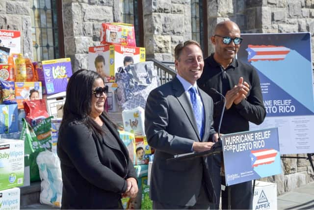 L to R: Clara Rivera, Rob Astorino, Mariano Rivera