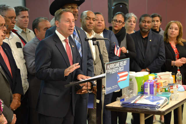 Rob Astorino announced the county is launching a drive for the people of Puerto Rico.