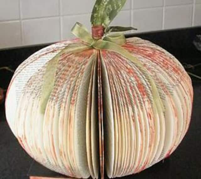 Bloomingdale Public Library will teach you how to turn an old book into a decorative pumpkin.