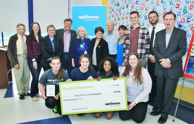 Putnam Valley High School Is the 2016 Westchester/Hudson Valley grand-prize winner in Optimum Community's Charity Champions program.
