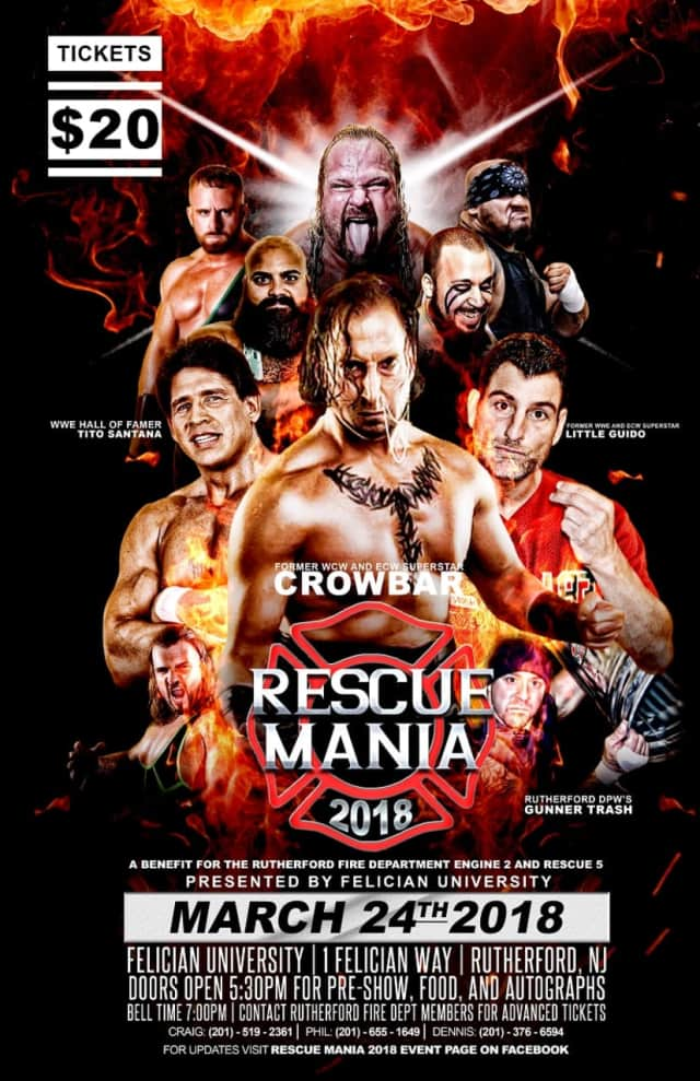 "Rutherford firefighters have made a limited number of walk-up tickets available for Saturday night's ""Rescue Mania."""