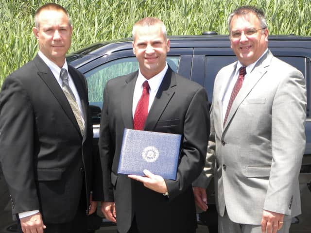 River Vale Police Chief William Giordano, Detective Sgt. John DeVoe and Detective Peter Martin attended the ceremony.
