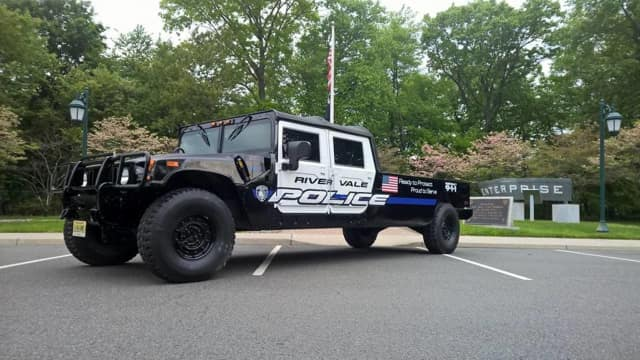 The River Vale Police Department's newest vehicle, an RVPD H1, made its debut Saturday at the township's Memorial Day parade.