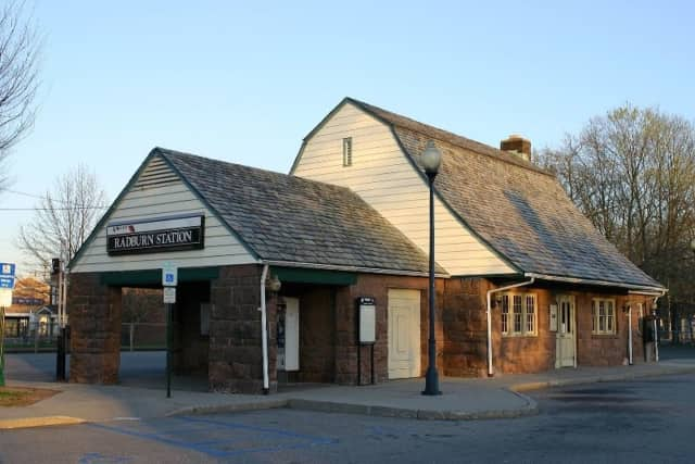 The building at the Radburn train station in Fair Lawn is undergoing repair.