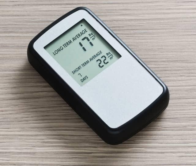 A radon detector.