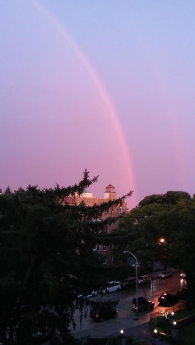 A beautiful rainbow graced the sky in Mount Vernon's Fleetwood neighborhood.