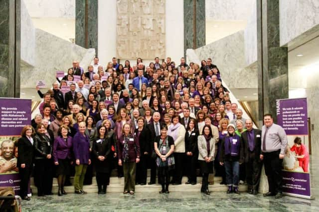 Hundreds of local residents affected by Alzheimer's will travel to Albany on March 8 to rally in the fight against the disease.