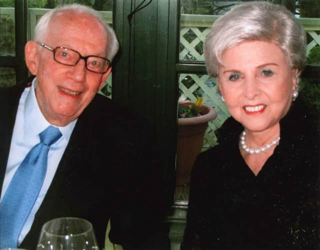 Raymond Sackler of Greenwich, with his wife, Beverly, died July 17 at the age of 97. Sackler founded Stamford-based Purdue Pharma, which developed Oxycontin, with his brothers.