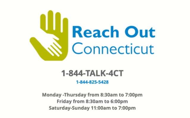 Reach Out CT is a free support line for struggling Connecticut residents.