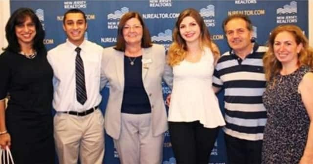 (from left) Rae Farapore with his mother, RealSource President Kathleen Houston and Rebecca Miksr Sahdi with her parents