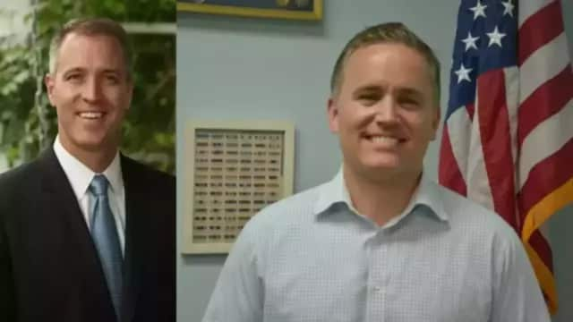 Congressman Sean Patrick Maloney leads Phil Oliva.