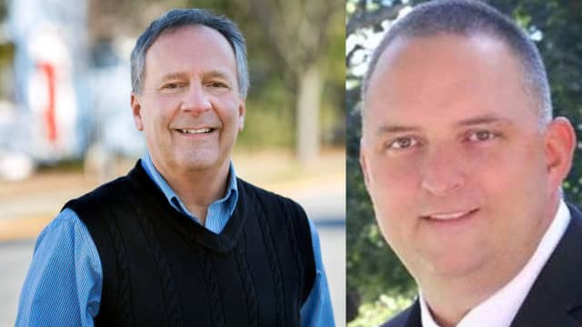 Gary Bassett (l) is challenging incumbent Heath Tortarella (r) for Mayor of Rhinebeck.