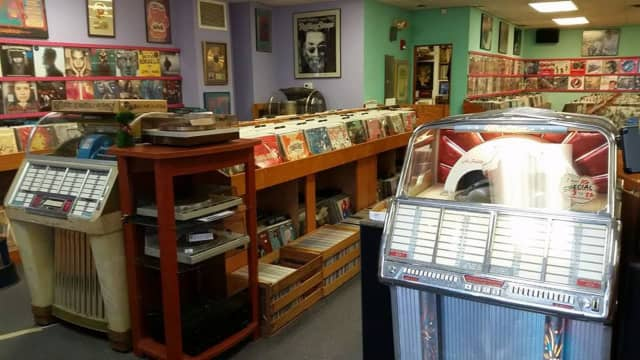 The interior of Gerosa Records
