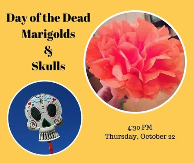 Red Hook Library's latest Crafternoon event will celebrate the Day of the Dead on Oct. 22.
