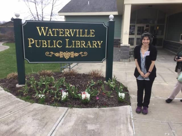 Dawn Jardine of the Red Hook Public Library visited the Waterville Public Library for a presentation by NASA.