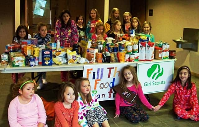 "Redding Girl Scouts previously held a ""Fill the Food Pantry event."" Now citizens at large have an easy opportunity, as they vote."
