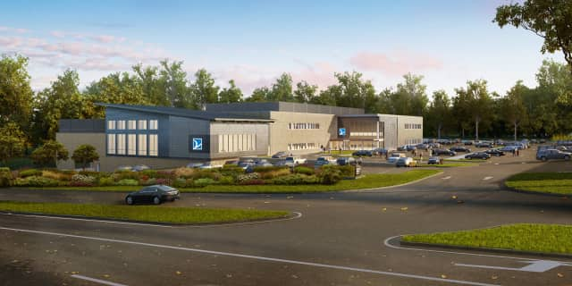 """A rendering of the planned Valley Center for Health and Wellness, an innovative """"health hub"""" for the community that will be located on MacArthur Blvd. in Mahwah."""