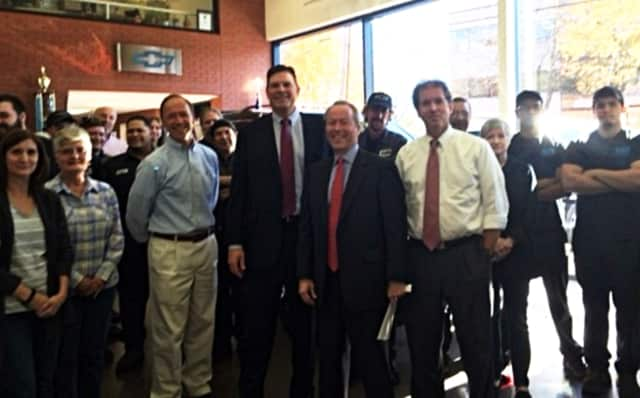 Rep. Tom O'Dea and Sen. Scott Frantz recently met with employees of Karl Chevrolet.