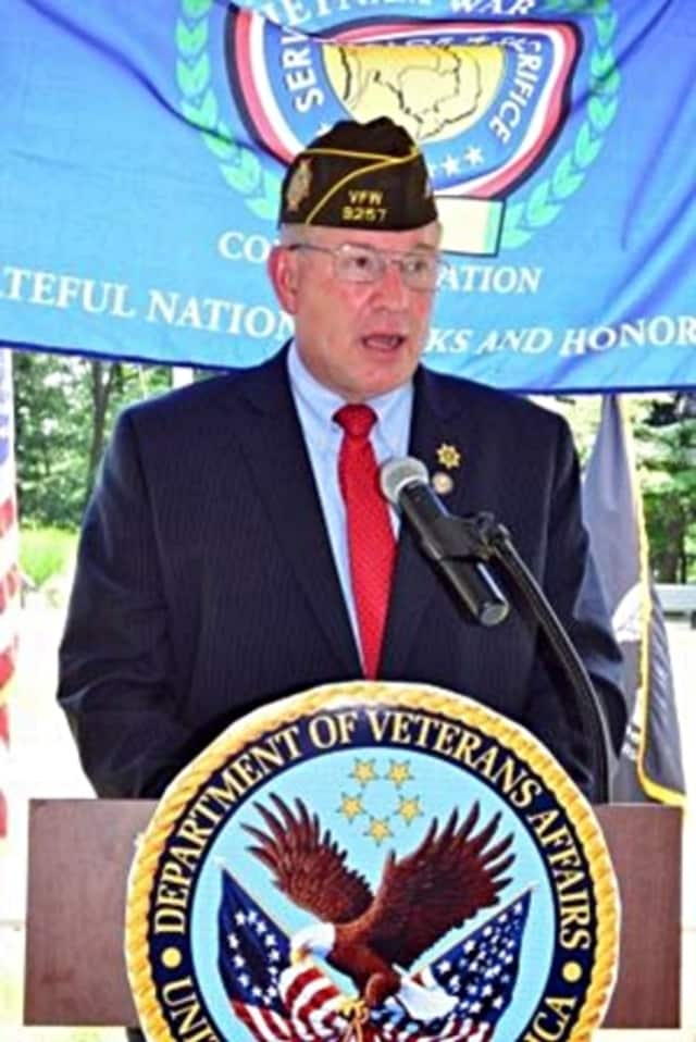 Ret. U.S. Army Brigadier General Donald Blaine Smith spoke to over 200 at recent commemoration of the Vietnam War.