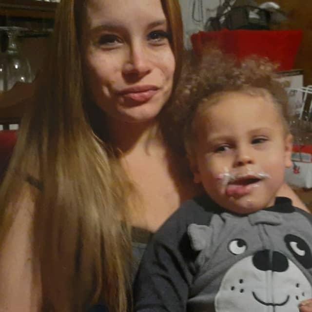 Frederike Reynoso, age 40, and her son Valencio Reynoso, age 2.