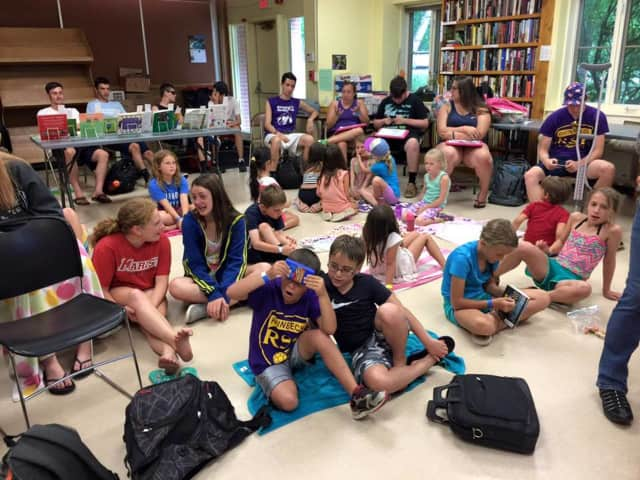 Starr Library hosts a Rhinebeck Rec Camp program on composting last week.