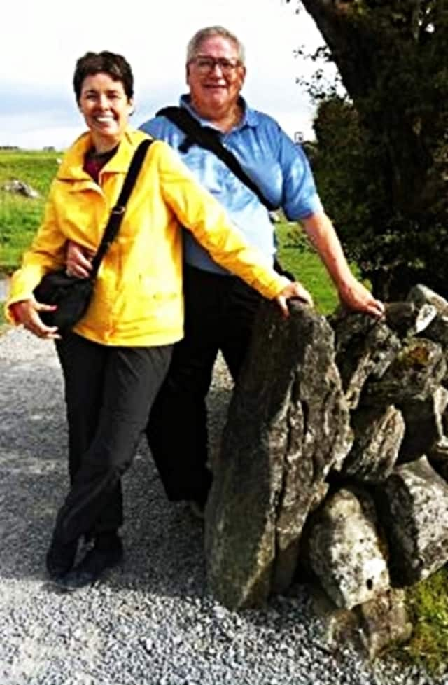 Richard Eiden and his wife, Jody, on a trip to Ireland